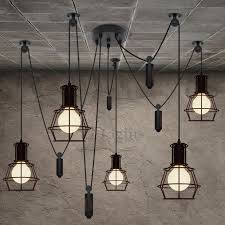 5 lights country style industrial kitchen lighting pendants