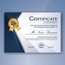 Plantilla Para Diplomas Y Certificados Vectores Fotos De