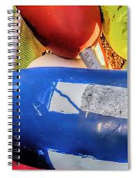 Multicolored Buoys Spiral Notebook For Sale By Janice Drew
