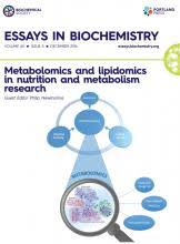 overview metabolomics and lipidomics in nutrition and metabolism  essays in biochemistry 60 5