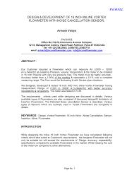 Pdf Design And Development Of 16 Inch Vortex Flow Meter