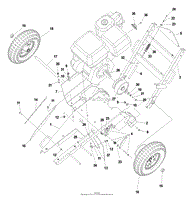 husqvarna sg 13 a ce 2004 03 parts diagram for shroud and blade deck assembly