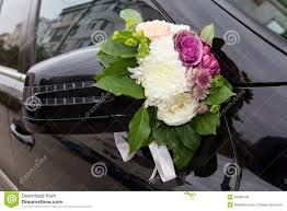 Wedding Car Decorate Vintage Wedding Car Decorated Flowers Stock Photos Images