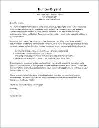 Sample Cv Covering Letter Best Human Resources Cover Letter Samples