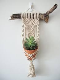 macrame plant hanger wall hanging mini