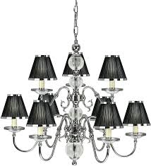 chandelier with black shades nickel 9 light large chandelier with black shades black and white check