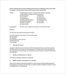 Free Meeting Minutes Templates 17 Free Sample Example Format