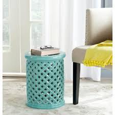 blue garden stool. safavieh isola light blue garden patio stool