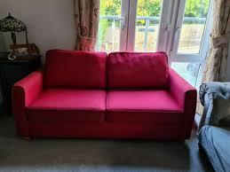 red debenhams sofa bed in purley