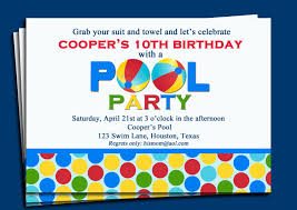 beach ball party pool party invitation printable or printed shipping splash pool party swim party