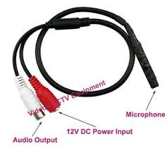 spy hidden mini audio cctv microphone mic dc v cctv security image is loading spy hidden mini audio cctv microphone mic dc