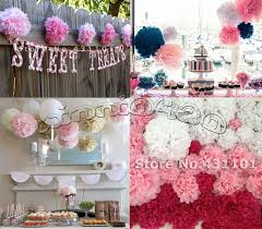 Tissue Balls Party Decorations 100 100 100cm Tissue Paper Pom Poms Flower Balls Wedding Party 17