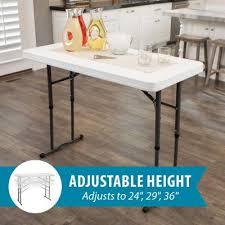 lifetime 4 foot adjustable height table