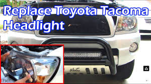 Toyota Tacoma Headlight Replacement 2005-2011 - YouTube