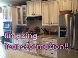 Brilliant Painting Oak Kitchen Cabinets White Faux Glaze Finishing In Design