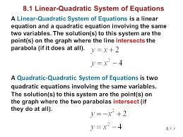 solving linear quadratic systems math linear quadratic system of equations math calculator