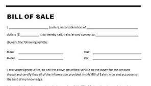vehicle bill of sale as is car bill of sale template