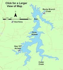 Union Reservoir Depth Chart Lake Profile Cedar Lake Jackson Co