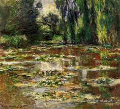 claude monet paintings for the bridge over the water lily pond