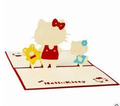 Christmas Birthday Party Invitations Cartoon Hello Kitty Christmas Birthday Party Letter Hard Paper