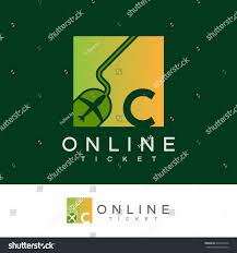 Graphic Letter Design Online Online Ticket Initial Letter C Logo Transportation