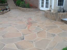 decorative concrete overlay of back porch patio and steps south ina