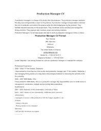 Production Manager Resume Cover Letter cover letter cover letter template for production manager resume 56