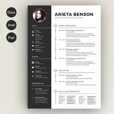 word for black and white 28 minimal creative resume templates psd word ai free