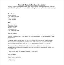 word templates resignation letter friendly sample resignation letter how to resign template