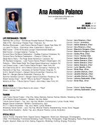 Dance Resume For Modern Dance Resume