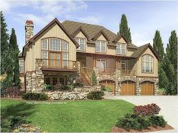 full size of mountain home plans sloping lot rustic with walkout basement house detached garage craftsman
