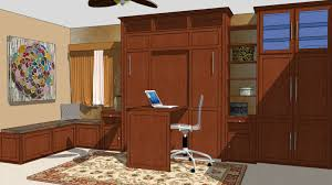 the desk is a standard option with the cromwell desk wall bed