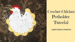 Free Crochet Chicken Potholder Pattern