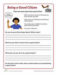 how to be a good citizen worksheet com second grade social studies worksheets how to be a good citizen