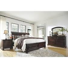 Millennium Porter 4Piece King Bedroom Set In Burnished Brown