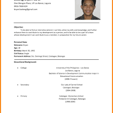 Simple Resume Example - Sradd.me