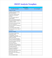 6 Blank Swot Analysis Templates Free Sample Example Format