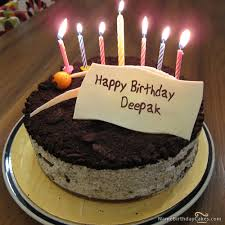 The Name Deepak Is Generated On Cute Birthday Cake For Friends