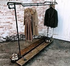 Vintage Garment Rack Industrial Rolling Garment Rack Possum Belly Antique  Brass Garment Rack .