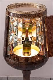 Aldo Tura Calice Bar Cabinet In Lacquered Goatskin