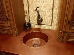 round integral copper bar sink