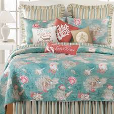 Santa Catalina Coastal Seashell Quilt Bedding &  Adamdwight.com