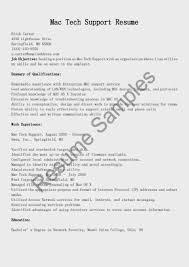Mac Tech Support Resume Sample Resume Sample Resume