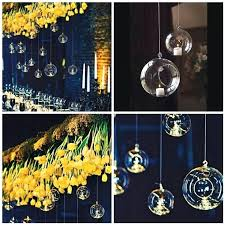 decorative colored glass hand blown glass ball hanging air plant terrarium hanging candles holder material