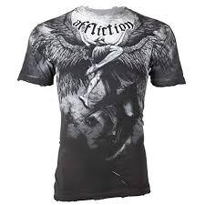 Affliction T Shirt Size Chart 50 Off Affliction Mens T Shirt Upward Angel Wings Grey