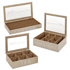 wooden tea boxes or coffee capsule holder storage container glass lid e food