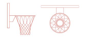 Basketball Rims Nets Dimensions Drawings Dimensions Guide