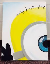 Easy Canvas Painting My Friend Made Me A Minion Canvas To Feed My Minion Obsession She