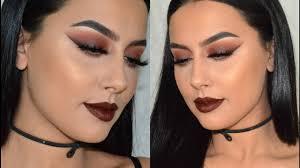 brown smokey eye smoked out liner fall makeup tutorial
