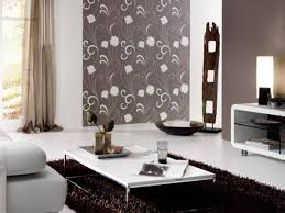 Patterned Wallpaper For Bedrooms Modern Patterned Wallpaper Design For Wall Plus Square Mirror And